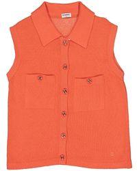 Chanel - Vintage Orange Cashmere Knitwear - Lyst