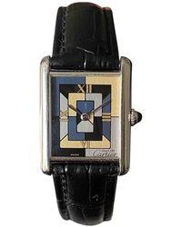 Cartier Tank Louis Silber Uhren - Mettallic