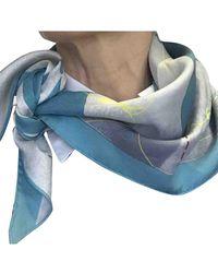 Hermès Foulards Pointu en Soie Multicolore - Bleu