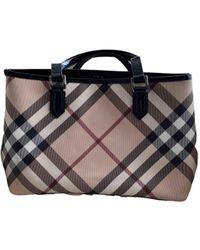 Burberry Cloth Handbag - Natural