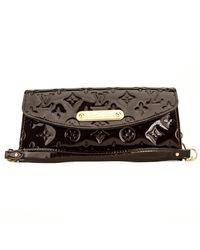Louis Vuitton - Sunset Boulevard Black Patent Leather Clutch Bag - Lyst