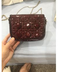 Dior Bolsa de mano en charol burdeos Miss - Multicolor