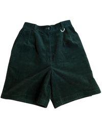 Dior Green Cotton Shorts