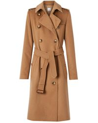 Burberry Cashmere Trench Coat - Brown