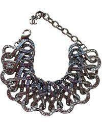 Chanel - Anthracite Steel Bracelet - Lyst