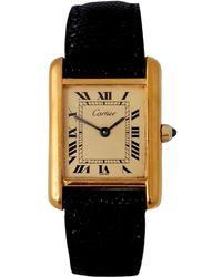 Cartier - Tank Must Gold Silver Gilt - Lyst