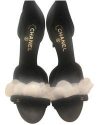 Chanel Sandali in tela nero