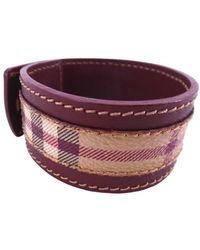 Burberry Leather Bracelet - Purple