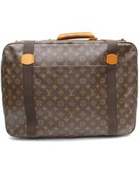 bef8fc40590 Lyst - Hermès Pre-owned Victoria Brown Leather Travel Bags in Brown