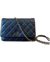 Chanel Wallet on Chain Leder Cross body tashe - Blau