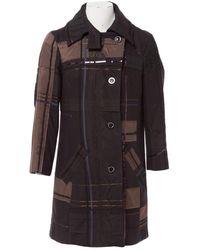 Christian Lacroix \n Multicolour Wool Coat - Black