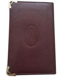 Cartier Leather Purse - Purple