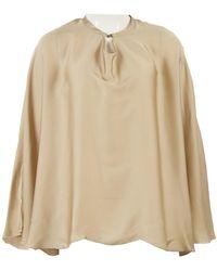 Lanvin - Brown Silk Top - Lyst