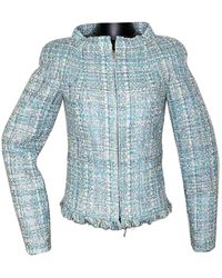 Chanel Tweed Kurze Jacke - Blau