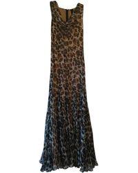 Vera Wang Long Silk Dress - Multicolor