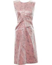Jil Sander - Pink Synthetic Dress - Lyst
