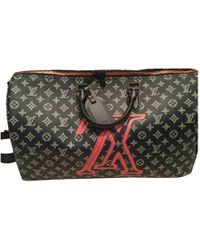 Louis Vuitton - Pre-owned Keepall Navy Cloth Bags - Lyst