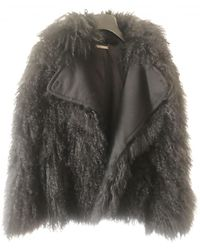 Diane von Furstenberg Faux Fur Trench Coat - Multicolour