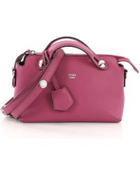 dbdb3b65d460 Fendi By The Way Medium Leather Tote in Red - Lyst