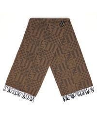 aspetto dettagliato 1f997 c84d9 Foulard in lana marrone