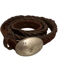 Golden Goose Deluxe Brand Leather Belt - Brown