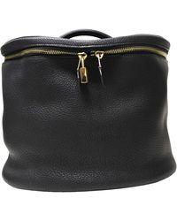Hermès Black Leather Travel Bag