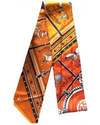 Hermès Maxi twilly Seide Rundhalsschal - Orange