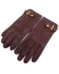 Hermès Brown Leather Gloves