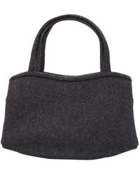Manolo Blahnik Wool Mini Bag - Gray