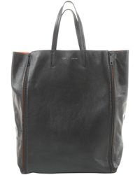 Céline Cabas Black Leather Handbag