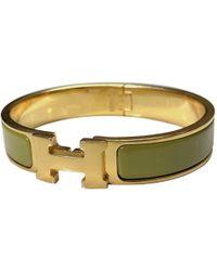 Hermès Clic H Armbänder - Mettallic