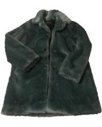 Supreme Turquoise Faux Fur Coat - Green