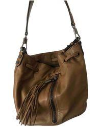 Elizabeth and James Camel Leather Handbag - Natural
