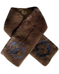 Louis Vuitton - Brown Rabbit Scarves - Lyst