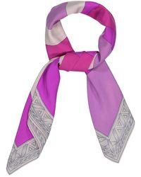 Emilio Pucci Pañuelos en seda violeta \N - Multicolor