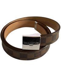 Louis Vuitton Cinturón en lona marrón