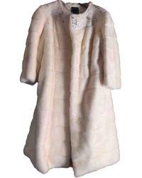 Dior White Mink Coat