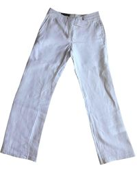 Loro Piana Linen Large Pants - White