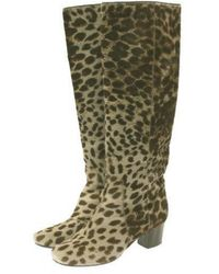 Lanvin Pony-style Calfskin Boots - Natural