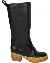 Chloé Pre-owned Leather Biker Boots - Black