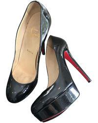 Christian Louboutin Bianca Patent Leather Heels - Black