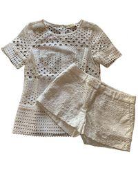 Michael Kors White Synthetic Shorts