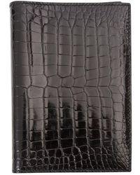 Hermès Black Alligator Purses Wallet & Case