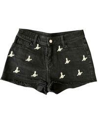 Zadig & Voltaire Black Denim - Jeans Shorts
