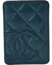 Chanel Piccola pelletteria in pelle blu