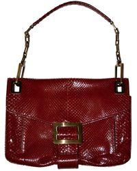 Roger Vivier Python Handbag - Red