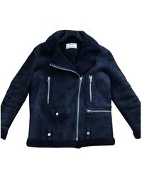 Acne Studios - Velocite Blue Leather Leather Jacket - Lyst