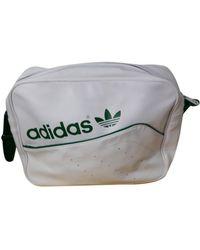 adidas Leder Business tasche - Weiß