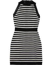 Balmain - Black Viscose Dress - Lyst