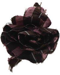 Marni Broches en Soie marron/rose - Multicolore